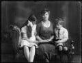 Hon. Lena Onslow; Alice, Lady Strathspey; (Donald) Patrick Grant of Grant, 5th Baron Strathspey, by Bassano Ltd - NPG x120249