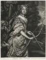Jane Kelleway as Diana, published by Alexander Browne, after  Sir Peter Lely - NPG D11444