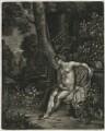 A Naked Woman in a Landscape, published by Alexander Browne, after  Frans van Mieris the Elder - NPG D11446
