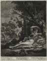 Venus and Adonis, by John Smith, published by  Alexander Browne, after  Nicolas Poussin - NPG D11454