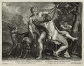 Venus and Adonis, by John Smith, published by  Alexander Browne, after  Titian - NPG D11455