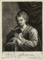 St Catherine reading, by John Smith, published by  Alexander Browne, after  Antonio Allegri da Correggio - NPG D11457