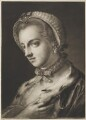 Fashionable woman wearing ermine-lined cloak, by Thomas Frye - NPG D11290