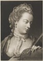 Fashionable woman holding a closed fan, by Thomas Frye - NPG D11295