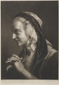 Old woman leaning on crutch, by Thomas Frye - NPG D11298
