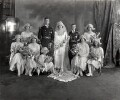 The Wedding of the Earl and Countess Mountbatten, by Vandyk - NPG x32104