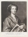 John Smith holding print by John Smith of Sir Godfrey Kneller, Bt, by John Smith, after  Sir Godfrey Kneller, Bt - NPG D11491