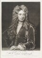 Sir John Vanbrugh, by John Simon, published by  John Smith, after  Sir Godfrey Kneller, Bt - NPG D11513