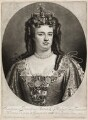 Queen Anne, by and published by John Smith, after  Sir Godfrey Kneller, Bt - NPG D11532