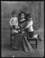 Lord Michael Fitzalan-Howard; Mona Fitzalan-Howard, Baroness Beaumont; Miles Fitzalan-Howard, 17th Duke of Norfolk, by Bassano Ltd - NPG x33384