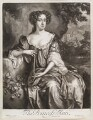 Queen Anne when Princess of Denmark, by Isaac Beckett, published by  Edward Cooper, after  Willem Wissing - NPG D11627