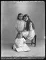 Arthur Reginald Coventry; Joan Bettine Gwenllian Birch (née Coventry); Mary Gwenllian Finegan (née Coventry), by Bassano Ltd - NPG x74984