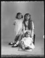 Mary Gwenllian Finegan (née Coventry); Joan Bettine Gwenllian Birch (née Coventry); Arthur Reginald Coventry, by Bassano Ltd - NPG x74985