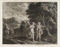 Tobias and the Angel, by and published by Bernard Lens (II), printed and sold by  John King, after  Jacob Symonsz. Pynas (Pinas) - NPG D11740