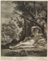 Venus and Adonis, by and published by John Smith, after  Nicolas Poussin - NPG D11731