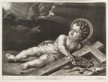 Christ as a Child lying with a cross, crown of thorns and nails, published by John Smith, after  Nicolas Pierre Loir (Loyr) - NPG D11765