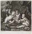 Three putti squabbling over a bird, published by John Smith, after  Gerard de Lairesse - NPG D11766