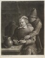Two boors with pipes, by and published by John Smith, after  Egbert van Heemskerck the Elder - NPG D11769