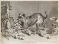 Snarling dog with food, by and published by John Smith, after  Frans Snyders (Snijders) - NPG D11784