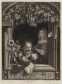 A Boy Blowing Bubbles out of a Window, published by Alexander Browne, after  Frans van Mieris the Elder - NPG D11903