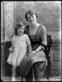 Beatrice Marion (née Hall), Viscountess Finlay; Hon. Rosalind Mary Hayes (née Finlay), by Bassano Ltd - NPG x75073