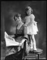 Beatrice Marion (née Hall), Viscountess Finlay; Hon. Rosalind Mary Hayes (née Finlay), by Bassano Ltd - NPG x75074