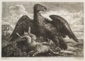 An eagle and a hare in a landscape, possibly published by John Smith, after  John Griffier - NPG D11795