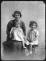 Hon. (Clementina) Gwendolen St Aubyn; John St Aubyn, 4th Baron St Levan; Jessica Koppel (née St Aubyn), by Bassano Ltd - NPG x75197