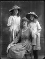 Edith Alice Cecilia (née Lowther), Baroness Thenard; Alice (née Blight), Lady Lowther; Gladys Mabel Black (née Lowther), by Bassano Ltd - NPG x75210