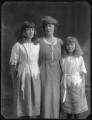 Edith Alice Cecilia (née Lowther), Baroness Thenard; Alice (née Blight), Lady Lowther; Gladys Mabel Black (née Lowther), by Bassano Ltd - NPG x75211