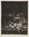 Still Life with Tankard, Wine Flask and Fruit, by Robert Robinson, published by  John Smith - NPG D11815