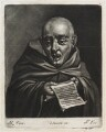 Monk singing, by and published by John Smith, after  Marcellus Laroon - NPG D11832