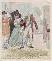'A ministerial fact; or, a squib of the first day' (Charles James Fox; King George III), by Unknown artist, published by  William Holland - NPG D12318
