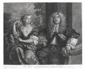 John Maitland, Duke of Lauderdale; Elizabeth Murray, Duchess of Lauderdale and Countess of Dysart, by Robert Williams, published by  Richard Tompson, after  Sir Peter Lely - NPG D13147