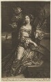 Catherine of Braganza as St Catherine, published by Richard Tompson, after  Jacob Huysmans - NPG D13173