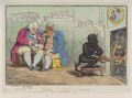 'Bonus Melior Optimus or the devil's the best of the bunch' (Frederick North, 2nd Earl of Guilford; Charles James Fox), by James Gillray, published by  William Humphrey - NPG D12338