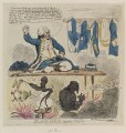 Richard Howe, 1st Earl Howe ('Black-Dick turn'd taylor'), by James Gillray, published by  George Humphrey - NPG D12371