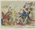 'The bow to the throne, - alias - the begging bow', by James Gillray, published by  Samuel William Fores - NPG D12378
