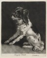 Dog Sitting, published by John Smith, after  Abraham Danielzsoon Hondius (de Hont or de Hond) - NPG D11884