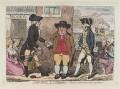 'John Bull, in a quandary' (Lord John Townshend; Samuel Hood, 1st Viscount Hood), by James Gillray, published by  Hannah Humphrey - NPG D12389