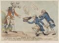 'Neddy's black box' (King George IV; King Charles I (head of); Edmund Burke; Richard Brinsley Sheridan), by Thomas Rowlandson, published by  Samuel William Fores - NPG D12397