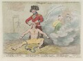 'Cooling the brain or - the little major, shaving the shaver' (Edmund Burke; John Scott-Waring; Warren Hastings), by James Gillray, published by  James Aitken - NPG D12399