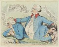 'The impeachment, - or - 'the father of the gang, turnd Kings evidence'', by James Gillray, published by  Samuel William Fores - NPG D12419