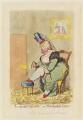 Albinia, Countess of Buckinghamshire ('La derniere ressource; - or - Van-Buchells garters'), by James Gillray, published by  Hannah Humphrey - NPG D12425