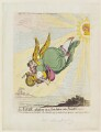 Juliana Elizabeth Schwellenberg ('An angel, gliding on a sun-beam into paradise'), by James Gillray, published by  Hannah Humphrey - NPG D12426
