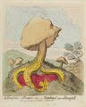 William Pitt ('An excrescence; - a fungus; - alias - a toad-stool upon a dung-hill'), by James Gillray, published by  Hannah Humphrey - NPG D12435