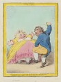 'Spouting' (Elizabeth Bridget Fox (née Cane); Charles James Fox), by James Gillray, published by  Hannah Humphrey - NPG D12453
