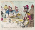 'Dumourier dining in state at St James's, on the 15th of May, 1793, by James Gillray, published by  Hannah Humphrey - NPG D12474