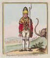 'The Leadenhall volunteer, drest in his shawl', by James Gillray, published by  Hannah Humphrey - NPG D12480