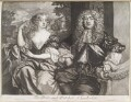 John Maitland, Duke of Lauderdale; Elizabeth Murray, Duchess of Lauderdale and Countess of Dysart, by Robert Williams, published by  Richard Tompson, after  Sir Peter Lely - NPG D11673